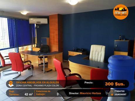 Oficina Ejecutiva Completamente Amoblada Cerca Del Prado