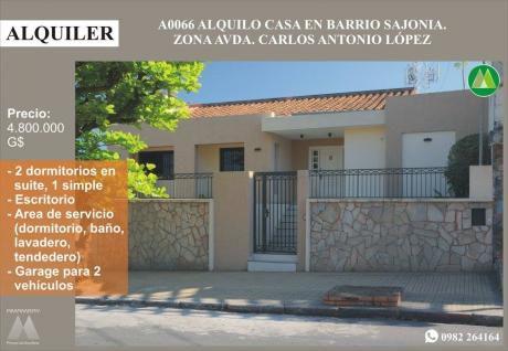 A0066 Alquilo Casa En Barrio Sajonia, Zona Estadio Defensores Del Chaco