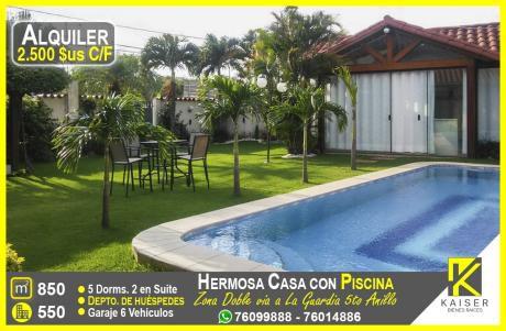 Linda Casa Con Piscina Y 6 Dormitorios