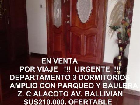 Departamento Calacoto - Av. Ballivian