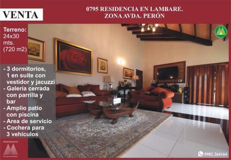 0795 Residencia En Lambare, Zona Avda. Peron