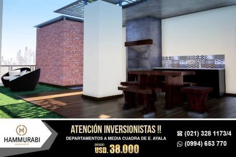 Atencion Inversionistas Oferta Departamentos A Media Cuadra De Eusebio Ayala!!!