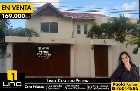 Linda Casa Con Piscina Y 4 Dormitorios En Polanco