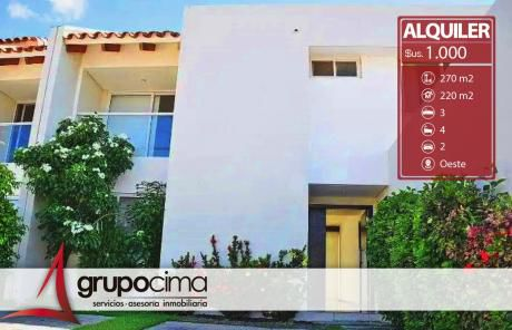 Amplia Y Hermosa Casa En Alquiler En Condominio Las Palmas II