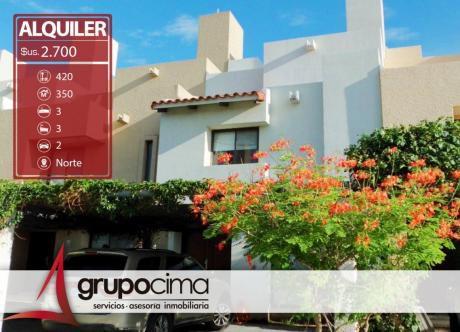 Casa En Alquiler En Condominio Ciudad Real !!!
