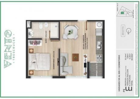 Apartamentos 1 Dormitorio En Tres Cruces