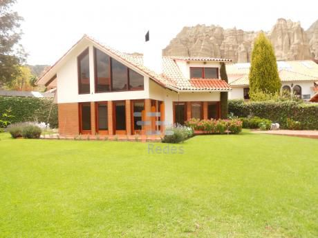 En Alquiler Preciosa Residencia En Achumani