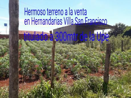 Vendo Terreno En Villa San Francisco