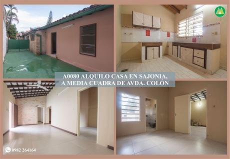 A0080 Alquilo Casa En Barrio Sajonia