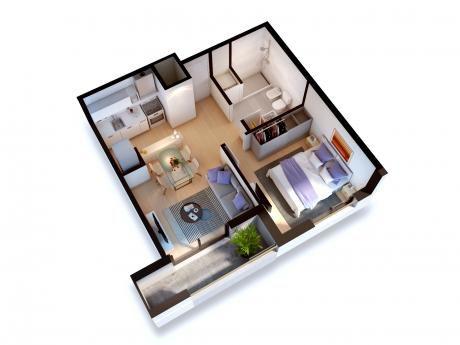 Un Dormitorio, A Estrenar! Rosedal. Ley 18795