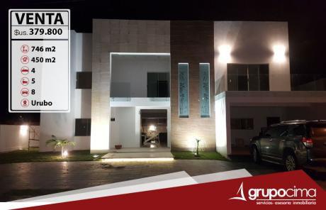 Lujosa Casa En Venta En Condominio Del Urubo !!