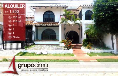 Amplia Casa En Alquiler Ideal P/oficinas !!!