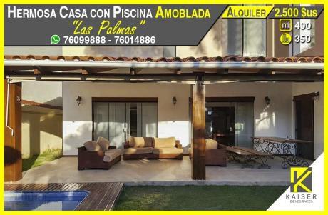 Hermosa Casa Amoblada En Alquiler
