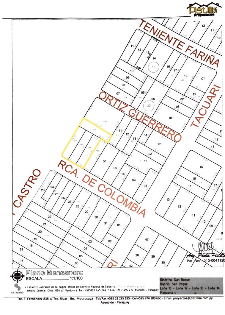 VENDO V-022 Terreno en Esquina - Barrio San Roque