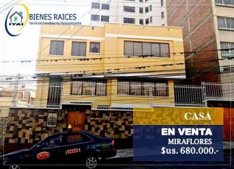 Casa En Venta - Miraflores