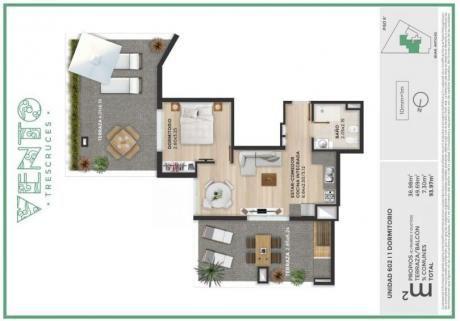 Excelente Penthouse 1 Dormitorio En Tres Cruces