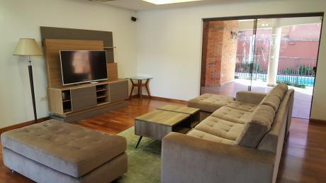 Alquilo Impecable Residencia Con Muebles En Villa Morra