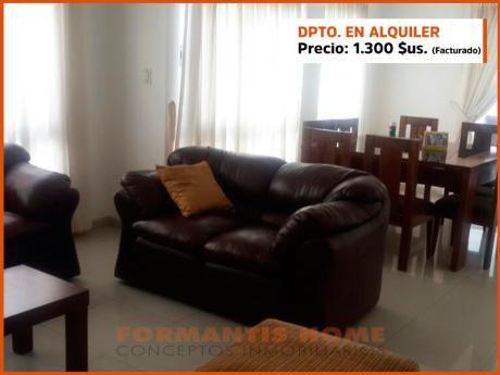 Departamento En Alquiler Amoblado, En Condominio Exclusivo Zona Equipetrol