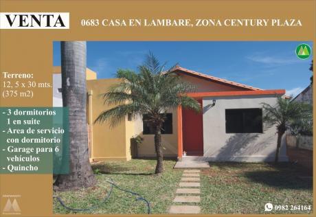 0683 Casa En Lambare, Zona Century Plaza