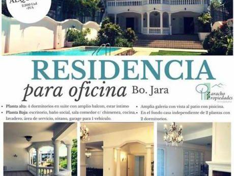 Alquilo Residencia Para Oficina Barrio Jara