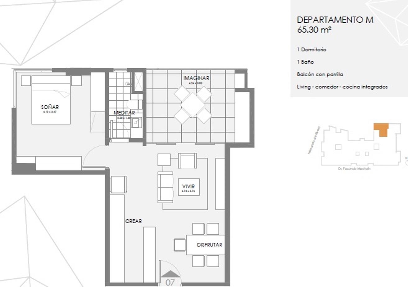 Tierra Inmobiliaria - Magnífico Departamento De 1 Dormitorio. Los Laureles