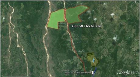 En Venta 799.50 Hectareas Zona Urubo