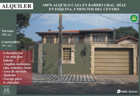 A0076 Alquilo Casa Para Vivienda U Oficina, Zona CÉntrica De AsunciÓn