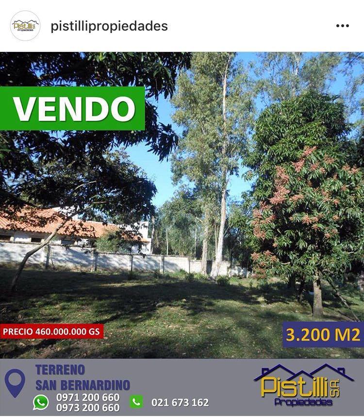 Vendo V-048 Terreno Baldío - San Bernardino