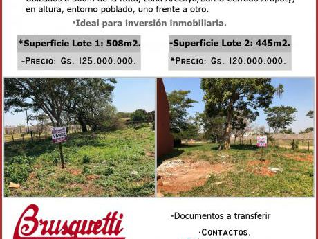 Vendo 2 Terrenos En Mariano Roque Alonso1