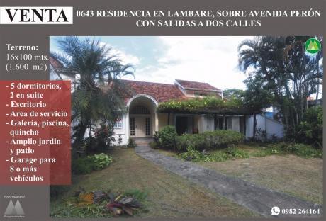 0643 Residencia En Lambare, Sobre Avda. Peron