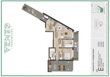 Penthouse 2 Dormitorios En Tres Cruces