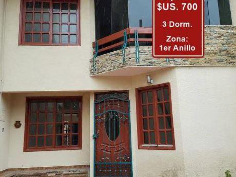 Alquiler: 700$ Zona Centro 1er Anillo