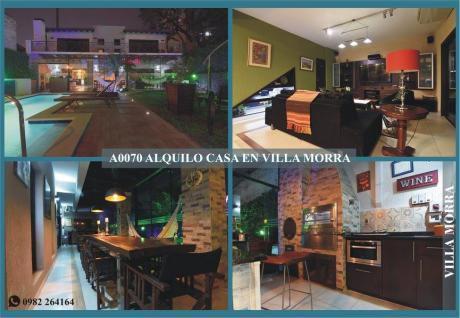 A0070 Alquilo Casa Amoblada, Barrio Villa Morra