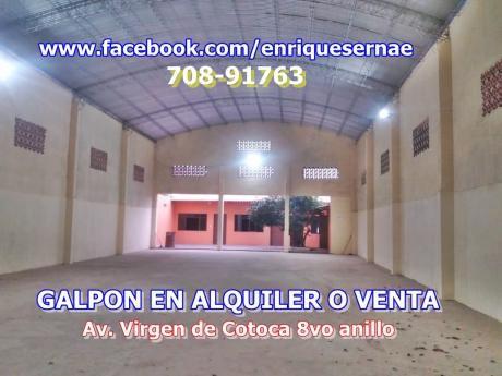 A Estrenar Galpon Cerrado En Alquiler O Venta – Virgen De Cotoca!