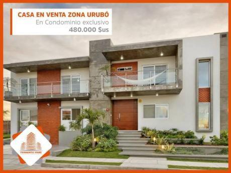 ¡en El Urubo! Hermosa Casa En Venta