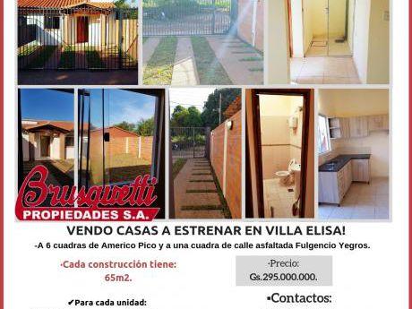 Vendo Casas En Villa Elisa!!