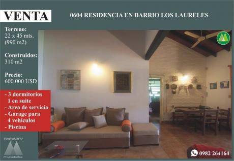 0604 Residencia En Barrio Los Laureles