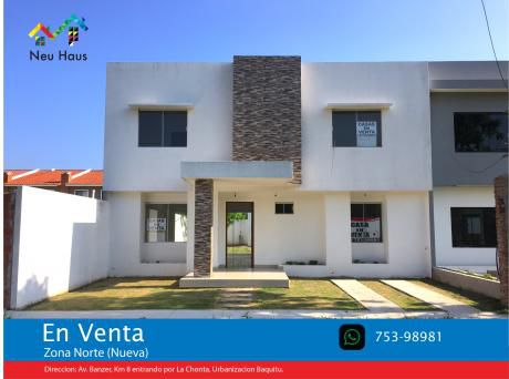 Casa En Venta Av.banzer Entrando Por La Chonta O Por La Av.beni 9no Anillo