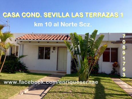 En Venta Preciosa Casa En Cond. Sevilla Las  Terrazas 1