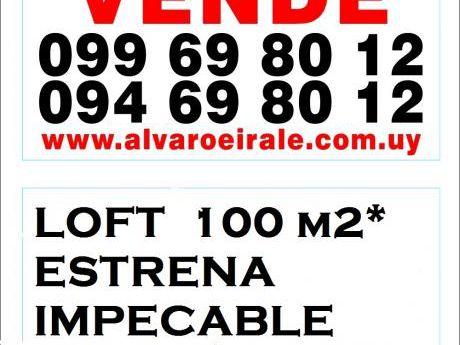 Loft 100 M2* Estrena Impecable Todo En Planta Baja Al Frente