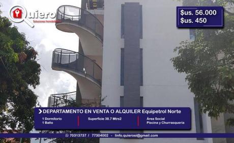 Departamento Mono-ambiente En Venta O Alquiler Equipetrol Norte