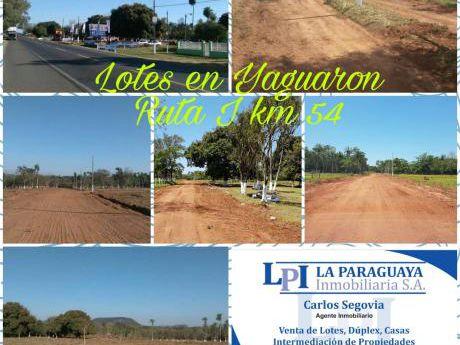 Lotes En Yaguaron - Ruta I Km 54
