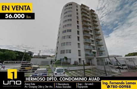 Departamento En Venta En Condominio Auad., Zona Este, Av. Guapay (canal Cotoca)