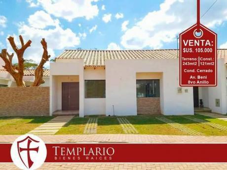 Hermosa Casa A Estrenar, Zona Norte: Av. Beni 8vo Anillo - Cond. Privado