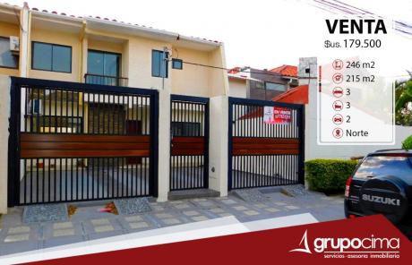 Casa En Venta A Estrenar En Residencias Del Norte  179.500 $us