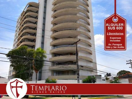 Av. Paragua 2do Y 3er Anillo - Condominio - Alquiler: $us 600