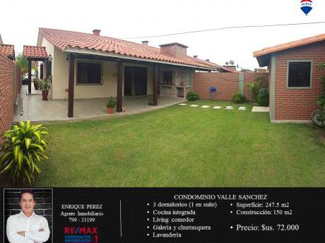 Casa En Venta - Cond. Valle Sanchez I