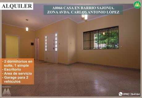 A0066 Alquilo Casa En Barrio Sajonia, Zona Avda. Carlos A. LÓpez