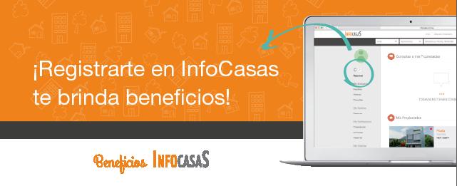 Registrarte en InfoCasas te brinda beneficios
