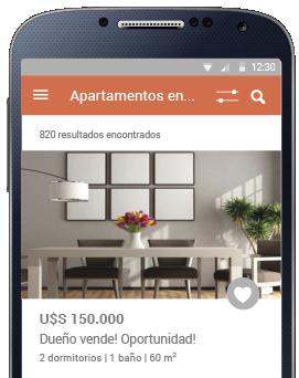 Celular con app InfoCasas